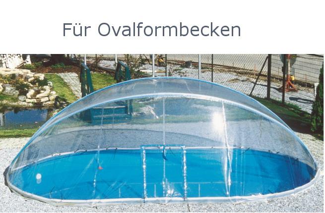 Aufklappbare Schwimmbadüberdachung Poolüberdachung Rundbecken  Schwimmbeckenüberdachung Ovalformbecken. Montageanleitung Überdachung ...
