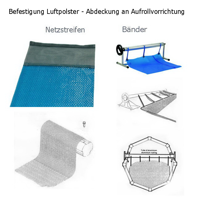 aufrollvorrichtung f r pool abdeckung aus solarfolie luftpolsterfolie. Black Bedroom Furniture Sets. Home Design Ideas