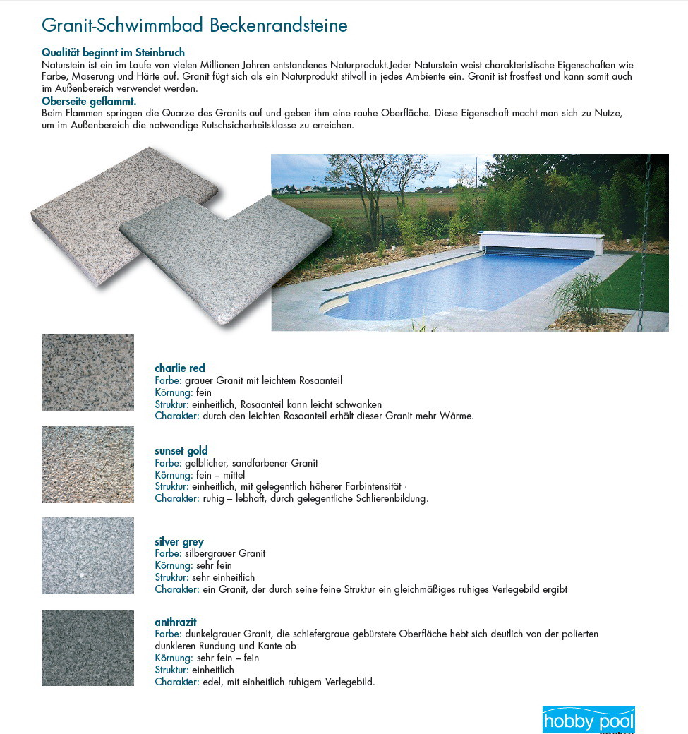 pool randsteine in naturstein mit wei zement und in granit. Black Bedroom Furniture Sets. Home Design Ideas
