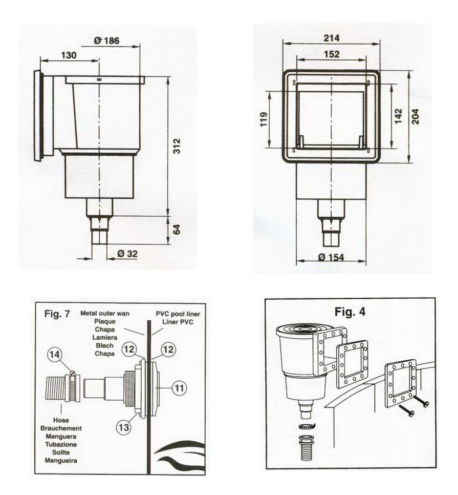 miniskimmer set stahlmantel schwimmbecken. Black Bedroom Furniture Sets. Home Design Ideas