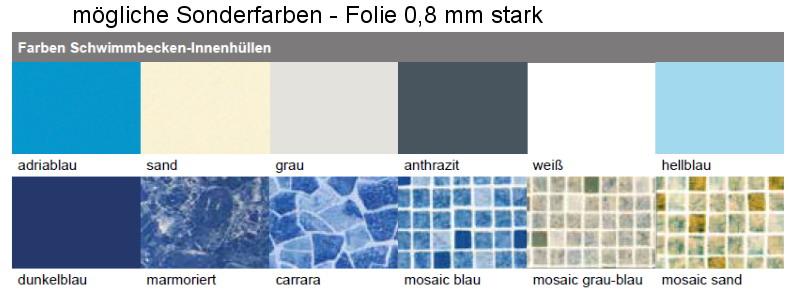Pool ersatz folie f r stahlmantel rundbecken 1 20 m tief for Poolfolie blau