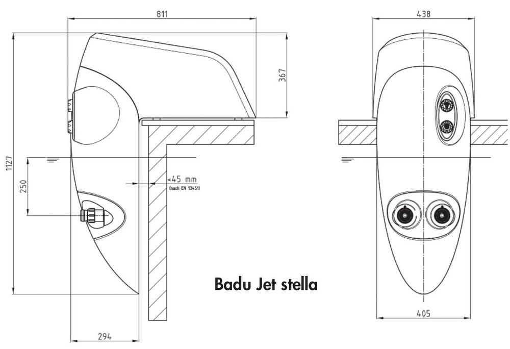 Schwimmbad einh nge gegenstromanlage badu jet stella for Schwimmbad gegenstromanlage