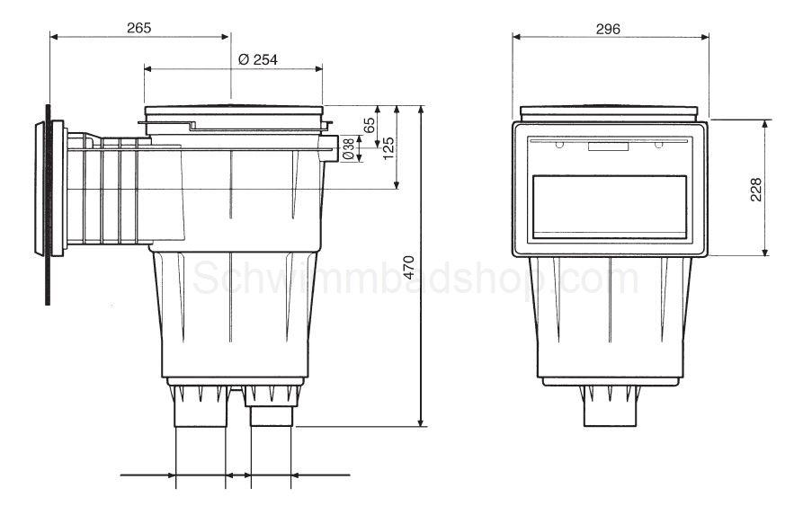 schwimmbad oberfl chenabsauger skimmer. Black Bedroom Furniture Sets. Home Design Ideas