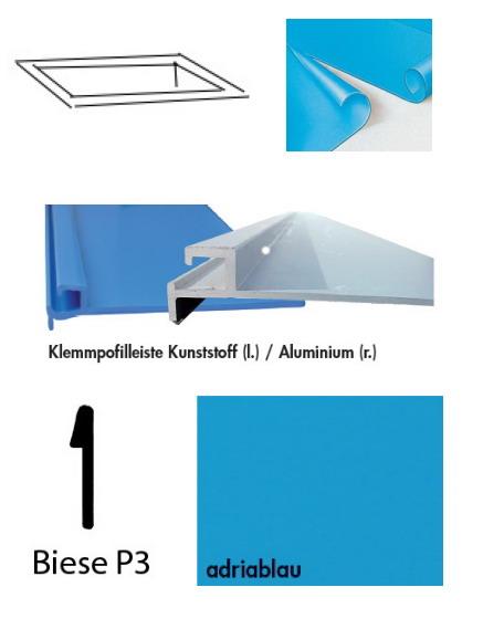 schwimmbadfolie rechteckbecken 1 50 m tief foliest rke 0 8 mm. Black Bedroom Furniture Sets. Home Design Ideas