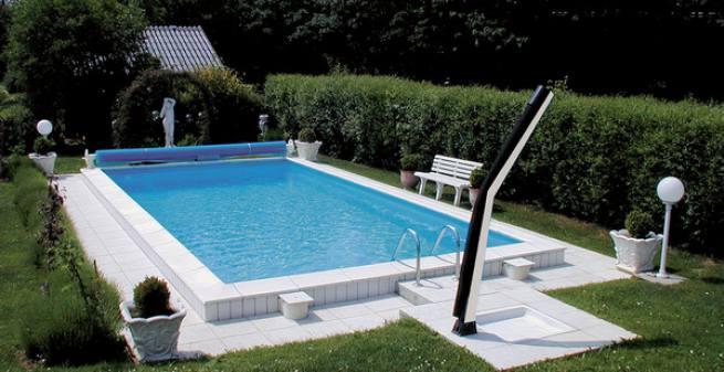 Styropor Rechteck Schwimmbecken Pool Set Top 40